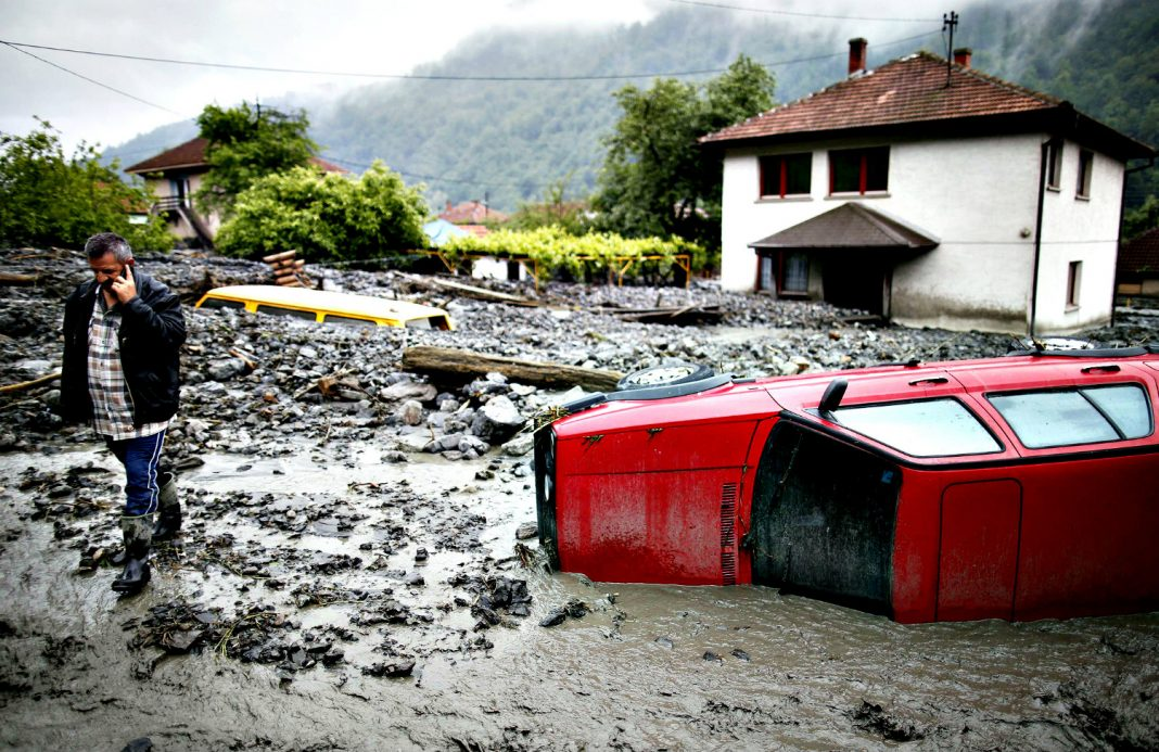 Flood damage in BiH